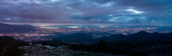 photo paysage photographe adailydream nuit panorama marseille ville nuages lumiere